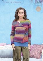 Sirdar Giselle Aran - 7172 Jacket Knitting Pattern